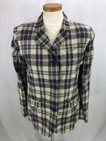 Polo Jean Co Ralph Lauren Womens Cotton Plaid thin Blazer Jacket 8 NWT Org $82