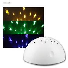 LED Nachtlicht Schlummerlicht Sterne Projektor Batteriebetrieb Nachttischleuchte