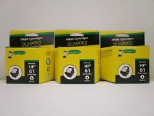 3 INKJET CARTRIDGES FOR DUMMIES REMANUFACTURED REPLACES HP 61 BLACK NT 7989