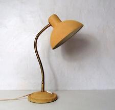 grande Lampe de bureau métal jaune vintage