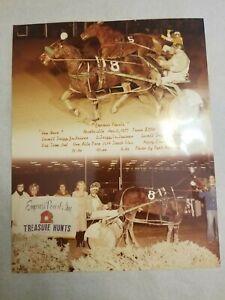 1977 Vintage Harness Horse Racing Photo at Empress Pearls Purse Nashville TN
