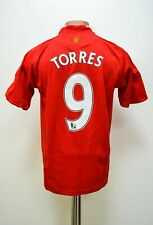 LIVERPOOL SIGNED 2008/2009/2010 HOME FOOTBALL SHIRT ADIDAS #9 TORRES YL BOYS