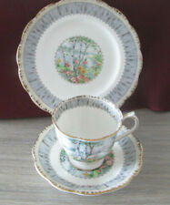 ROYAL ALBERT  SILVER BIRCH CUP TRIO, SAUCER AND PLATE