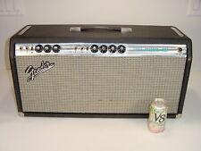 Vintage 1969 Fender Super Bassman Bass Guitar Silverface 6L6 100W Tube Amp Head