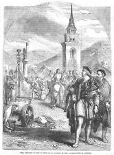 William Tell refusing to Bow to the Cap of Gessler at Altdorf - Antique Print 18