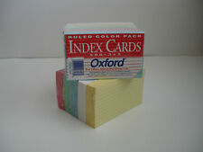 Oxford 3 X 5 Ruled Index Cards Assorted Colors 10 Packs