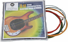 1216 COLOUR COLOURFUL Bass guitar strings SPOCK green yellow red blue rocksmith