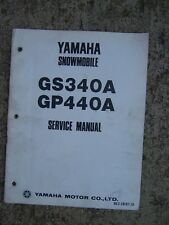 1976 Yamaha GS340A GP440A Snowmobile Service Manual MORE SNO-MO IN OUR STORE  L