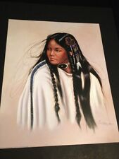 "Cherokee Maiden By Garcia Large 16 X 20"" Picture Print New In Lithograph"
