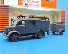 Roco Minitanks H0 369 MERCEDES L 1500 S LF 8 + Anh. EDW Feuerwehr WWII HO 1:87