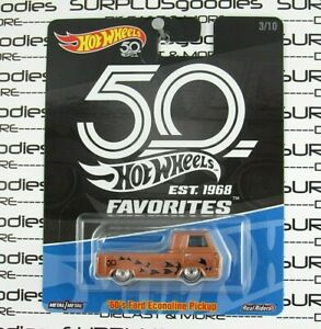 Hot Wheels 2018 50th Anniversary 1960's 60's FORD ECONOLINE PICKUP w/Real Riders