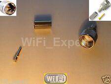 Mini Uhf Male Straight Crimp Rg58 Rg142 Rg400 Lmr195 Coax Cable Rf Connector Usa