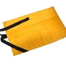12 Bolsillos De Cuero Herramienta Roll almacenamiento 50cm X 30cm Cincel / Llave Roll