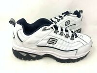 NEW! Skechers Men's ENERGY AFTER BURN Shoes EXTRA WIDE Wht/Nvy #50081EW 200OP tz