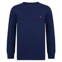 Genuine Ralph Lauren Polo Boys Crew Neck Long Sleeve Pony T Shirt Tee Top - New