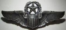 "WW2 AAF Sterling Command Pilot Wings - Robbins Co Flying ""R"" Hallmark - CB"