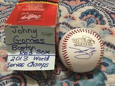 JOHNY GOMES SIGNED 2013 WORLD SERIES BASEBALL BOSTON RED SOX CHAMPIONS FENWAY
