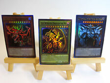 ~PROXY~ Orica Custom Egyptian Gods 3 Card Lot (Anime Effect) Ultra Rare