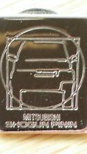 Mitsubishi Shogun Pinin Tie  Lapel Pin With Chain Silver Metal Brooch