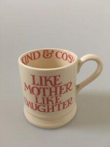 Emma Bridgewater Like Mother Like Daughter Half Pint Mug Pink Toast
