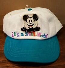 RARE DISNEY Parks It's a Small World Hat with Jumbo Pin Disneyana Convention !