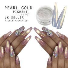 Gold Pearl Highlighter Nail Pigment Powder Mirror Chrome Shimmer Mermaid Nails