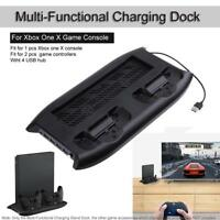 Vertical Mount Holder Stand Dock Charging Station HUB fr Xbox One X Game Console