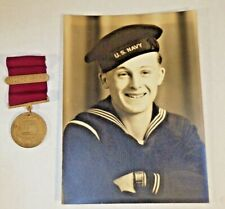 Us Navy Usn 1948 Good Conduct Meadal 2nd Award Named & Photo Of Recipient