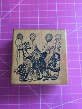 Vintage Party Clowns Rubber Stamp By All Night Media