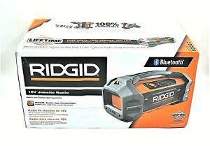 NEW RIDGID 18V Hybrid Jobsite Radio With Bluetooth Wireless  R84087 (Tool Only)