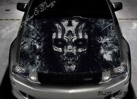 Evil Skull Car Bonnet Wrap Decal Full Color Graphics Vinyl Sticker #232