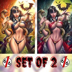 🚨🔥🦇 VAMPIRELLA #22 PANTALENA 616 Virgin Variant Day & Night Set LTD 350 COA