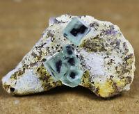 Natural translucent Purple/Green Cube fluorite Mineral Specimen/China
