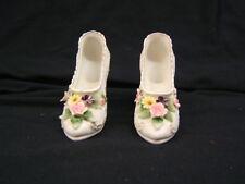 Pair of Lefton Porcelain High Heel Shoes #KW4746 Handpainted VGC
