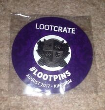 Loot Crate Kingdom Crest Coat Of Arms August 2017 Pin Button Badge