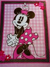 "PICTURE PANEL FLEECE BLANKET- DISNEY - MINNIE MOUSE AND GINGHAM - 48""x58"""
