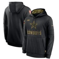 2020 Dallas Cowboys Nike Black Men's Salute To Service Sideline Hoodie Authentic