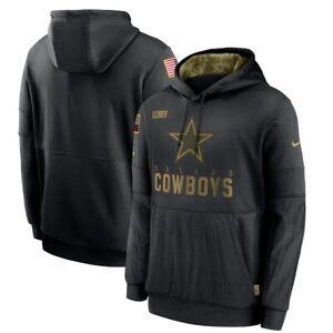 2020 Dallas Cowboys Nike Black Men's Salute To Service Sideline Hoodie Authentic
