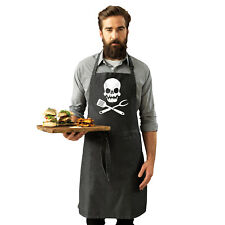 Funny Novelty Apron Kitchen Cooking - Cooking Skull