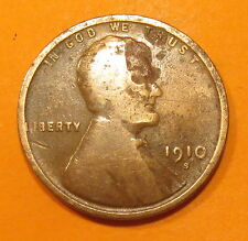 (((1910 S COPPER PENNY--LINCOLN'S ASSASSINATION IMAGE)))
