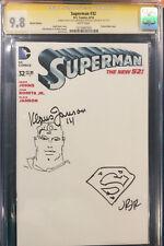 Klaus Janson & John Romita JR. ORIGINAL Sketch Art CGC 9.8 Signed SUPERMAN Comic Comic Art