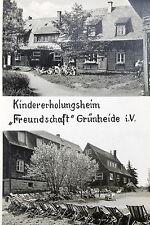 21887 AK Grünheide Vogtland DDR Kindererholungsheim Kinder Liegestühle um 1960