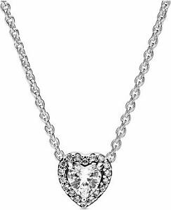 Authentic Pandora Elevated Heart Necklace