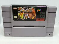 WWF Wrestlemania The Arcade Game Snes Super Nintendo, tested and working.