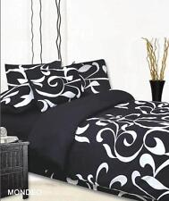 New MONDEO Black White Very Soft Touch SINGLE Size Quilt/Doona/Duvet Cover Set