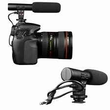 Professional Studio Digital Video Stereo Recording 3.5mm Microphone For Camera