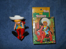 Big Hat Don On Donkey Vintage Wind Up Toy Echo No 8008B in box made in Hong Kong