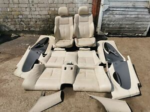 BMW E63 LEATHER SEAT AND DOOR CARDS SET ELECTRIC MEMORY RHD 6 SERIES COUPE E63