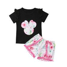 Niño Bebé Minnie Mouse Ropa Camiseta Suéter + Pantalón Corto Traje De Baño