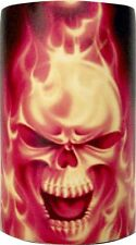Flaming Skull Quality Stubby Holders - can be Personalised add text if required